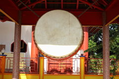 Chinese buddhist drum Royalty Free Stock Image
