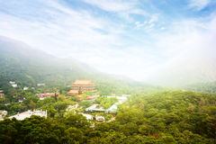 Chinese Buddhist monastery in the mountains. Stock Photography