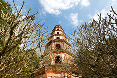 Chinese buddhist pagoda leveled for storing relics Royalty Free Stock Photo