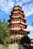 Chinese buddhist Pagoda Sapta Ratna. In Sorong (Papua Barat, Indonesia Royalty Free Stock Images