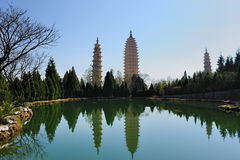 Chinese Buddhist pagodas stock photo