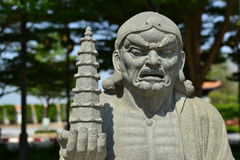 Chinese Buddhist priest statue Stock Image