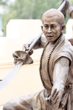 Chinese Buddhist priest statue. Royalty Free Stock Photo