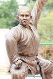 Chinese Buddhist priest statue. Royalty Free Stock Images