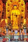 Chinese buddhist shrine. Interior of Chinese buddhist shrine in the city of Shanghai China Stock Image