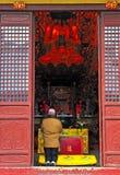 Chinese buddhist shrine. In the city of Shanghai China Stock Photo