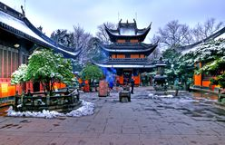 Chinese buddhist shrine. In the city of Shanghai China stock images