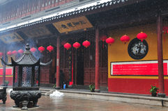 Chinese buddhist shrine. In the city of Shanghai China royalty free stock photos