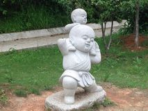 Chinese Buddhist statue Stock Photo