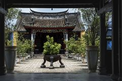 Chinese Buddhist temple in downtown Hoi An, Vietnam stock images