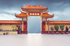 Free Chinese Buddhist Temple Gate Royalty Free Stock Image - 78977696