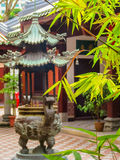 Chinese Buddhist Temple in Singapore. Courtyard of Chinese Buddhist Temple in Singapore. Duxton Hill area, Singapore. Selective focus stock images