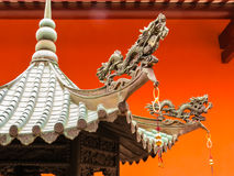 Chinese Buddhist Temple in Singapore. Detail of Chinese Buddhist Temple royalty free stock image