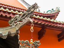 Chinese Buddhist Temple in Singapore. Detail of Chinese Buddhist Temple royalty free stock photo