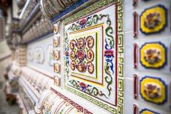 Chinese buddhist temple wall at Supasarnrangsan Road Hat Yai Songkhla  Thailand. Chinese buddhist temple wall at Supasarnrangsan Road Hat Yai Songkhla Thailand Royalty Free Stock Photography