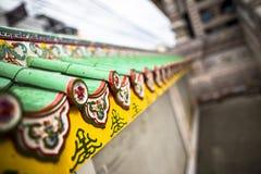Chinese buddhist temple wall at Supasarnrangsan Road Hat Yai Songkhla  Thailand. Chinese buddhist temple wall at Supasarnrangsan Road Hat Yai Songkhla Thailand Stock Photos