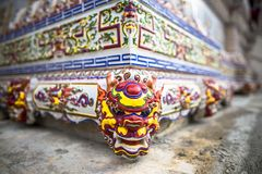 Chinese buddhist temple wall at Supasarnrangsan Road Hat Yai Songkhla  Thailand. Chinese buddhist temple wall at Supasarnrangsan Road Hat Yai Songkhla Thailand Stock Photo