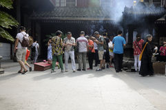 Chinese Buddhists Praying Royalty Free Stock Photo