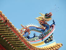 Chinese buddist temple roof Royalty Free Stock Photos