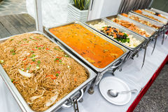 Chinese buffet of Asian cuisine Royalty Free Stock Photos