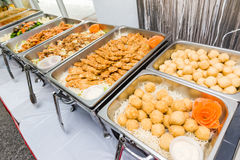 Chinese buffet of Asian cuisine Stock Photography
