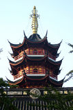 Chinese building. A chinese tower in a chinese temple Stock Photography