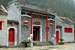 Chinese building. Details of a restored Chinese building, vernacular architecture Royalty Free Stock Photos