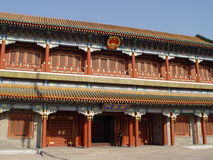 Chinese building. In Beijing, China, Tiananmen Square / Beihai Park, Forbidden City royalty free stock photo