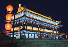 Chinese building architecture at night Royalty Free Stock Image