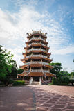 Chinese building design Asian style. In temple Stock Photography