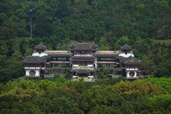 Chinese building hotel in mountain Royalty Free Stock Images