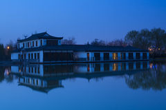 Chinese building in night Royalty Free Stock Photo