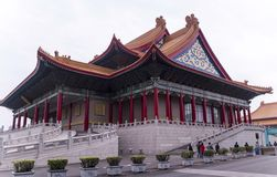 Chinese building with orange roof Royalty Free Stock Image