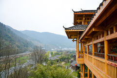 Chinese building over the garden Stock Photography