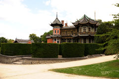 Chinese building in park. A beautiful chinese building in a park near Brussels Stock Photo