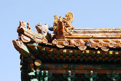 Chinese building roof Royalty Free Stock Photography