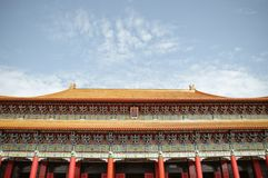 Chinese Building in Taiwan. Typical Asian Chinese palace roof architecture in Taiwan Royalty Free Stock Photos