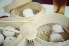 Chinese bun - dim sum Stock Photo