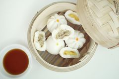 Chinese bun - dim sum Royalty Free Stock Images