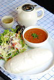 Chinese bun and Indian curry Stock Images