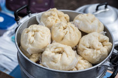 Chinese buns at the market Stock Images