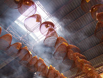 Chinese burining coil incense Stock Photos