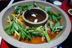 Chinese beef Hot Pot Royalty Free Stock Images