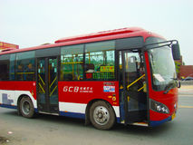 Chinese Bus. Filmed in guangzhou of China Stock Image