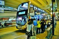 Chinese Bus in Hong Kong Stock Photos