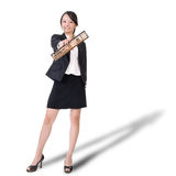 Chinese business lady holding abacus Stock Image