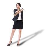 Chinese business lady holding abacus Stock Image