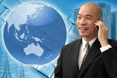 Chinese business man Royalty Free Stock Photo
