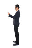 Chinese business man using tablet Stock Photos