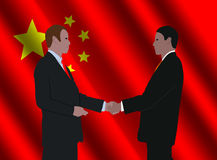 Chinese business men meeting Stock Image